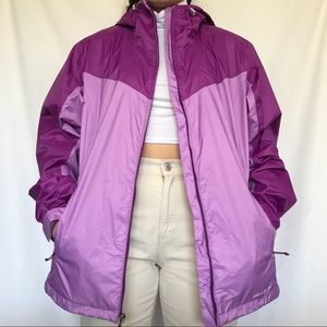 Eddie Bauer color block waterproof rain jacket